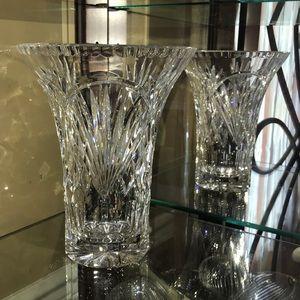 Vintage Cut Lead Crystal Glass Vase